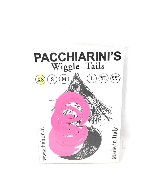 Pacchiarini's Wiggle Tails XS - Fluo Pink - 8 pcs.